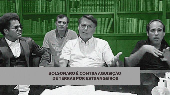 Bolsonaro é contra aquisição de terras por estrangeiros