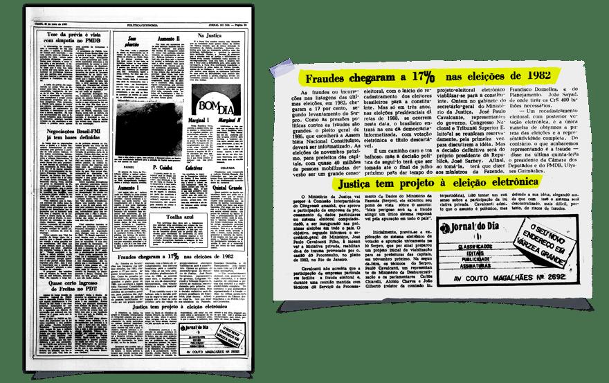 (Imagem: Jornal do Dia, 1985, Biblioteca Nacional)