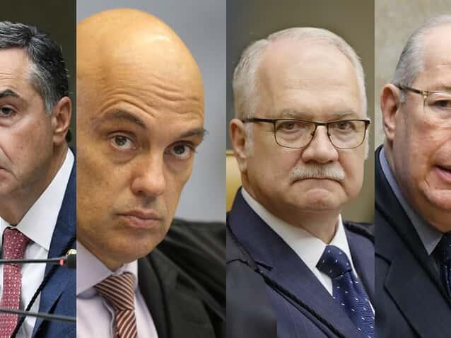 (Imagem: Carlos Moura/Nelson Jr./Rosinei Coutinho/Carlos Moura/SCO/STF)
