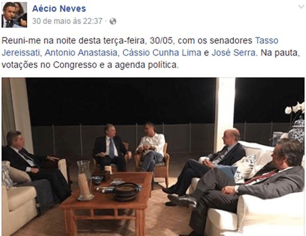 STF julga pedido de prisão preventiva de Aécio Neves