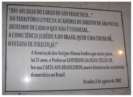 Ministro José Gregori relê a Carta aos Brasileiros do saudoso Mestre Goffredo Silva Telles Jr.