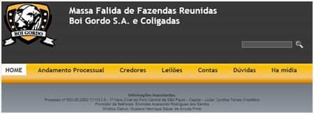 Massa falida da Boi Gordo lança site para orientar credores