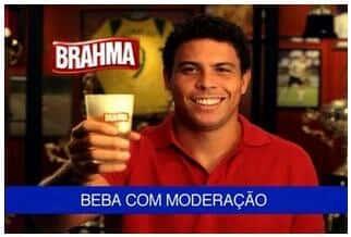 MPF/SP pede indenização por comercial da Brahma, com Ronaldo