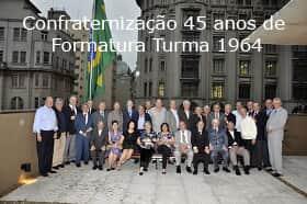 Turma de 1964 das Arcadas celebra 50 anos de formatura