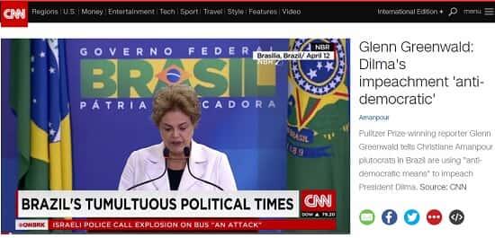 CNN faz reportagem sobre o impeachment