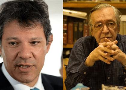 TSE nega pedido de Haddad e PT para retirar post de Olavo de Carvalho do ar