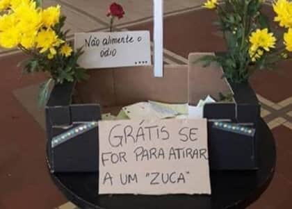 Estudantes brasileiros em Lisboa distribuem flores em protesto a caixa de pedras