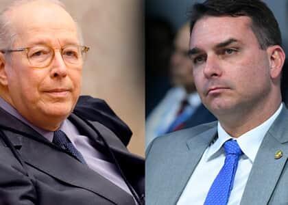 Celso de Mello é relator de ação contra foro especial de Flávio Bolsonaro