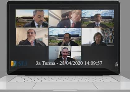 Inédito: STJ tem primeira sessão por videoconferência