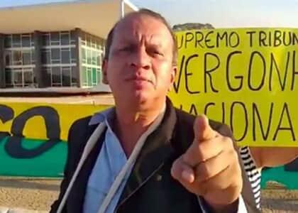 Manifestante é detido por ataques contra o STF no último sábado