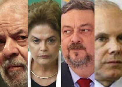 Lula, Dilma, Palocci e Mantega tornam-se réus por quadrilhão do PT
