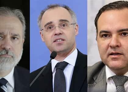 Augusto Aras, André Mendonça e Jorge Oliveira são cotados para vaga de Celso de Mello no STF