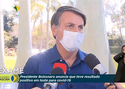 Bolsonaro confirma exame positivo para covid-19