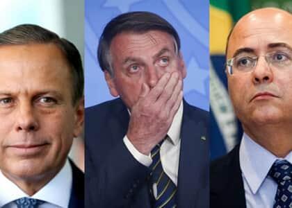 "Bolsonaro chama Doria de ""bosta"" e Witzel de ""estrume"""